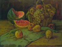 Vasily Belikov Still life with water melon Still Life