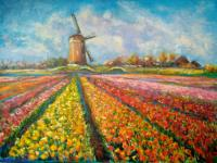 "Viktoriya ""Exhibition of tulips in the Bloemencorso"" Landscape"