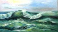 Plokhotina Luydmila big wave Seascape