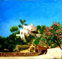 Nina Belova Morning in Elounda Landscape