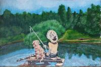Nina Belova Fishermen Conversation piece