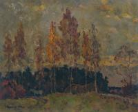 Vasily Belikov Autumn birches Landscape
