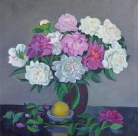 Moesey Li Peonies and a lemon Flowers