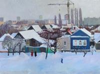Moesey Li Winter outside the window Urban Landscape