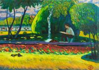 Moesey Li In the plein air Landscape