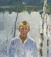 Moesey Li A boy on the lake Portrait