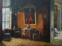 Tatiana The interior of the cabinet in Kuskovo Manor Conversation piece