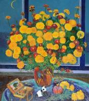 Moesey Li Autumn bouquet Still Life