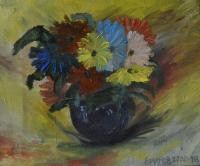 "Alexey Efimov ""Bouquet in a vase"" Still Life"