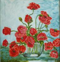 Nina Belova Poppies field Flowers
